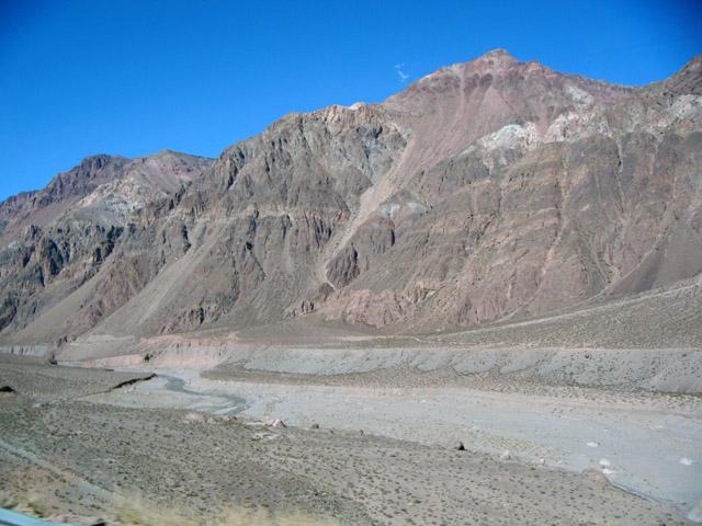 Fluvial terraces. Las-cuevas-river-valley